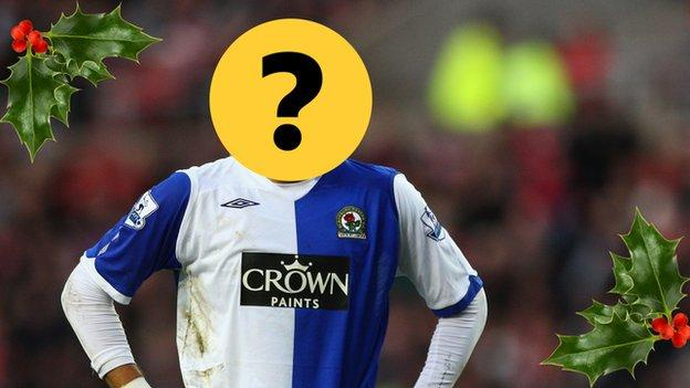 A player covered by a question mark