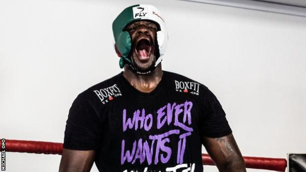 Dillian Whyte howling like a werewolf as he psyches himself up for an intense sparring session