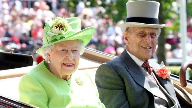 Prince Philip and the Queen at Royal Ascot