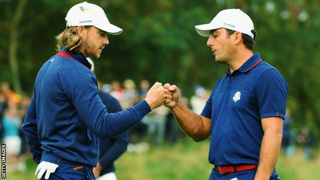 Tommy Fleetwood and Francesco Molinari