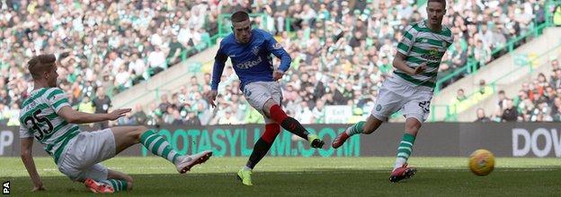 Ryan Kent's well-taken goal hauled Rangers level at Celtic Park