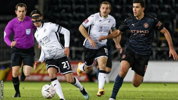 Yan Dhanda played 77 minutes of Swansea City's FA Cup fifth-round meeting with Manchester City on Wednesday