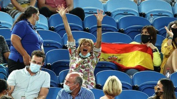 Spectator at Rafael Nadal's match at the Australian Open