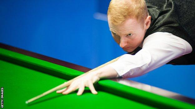 trump Anthony McGill lines up a shot