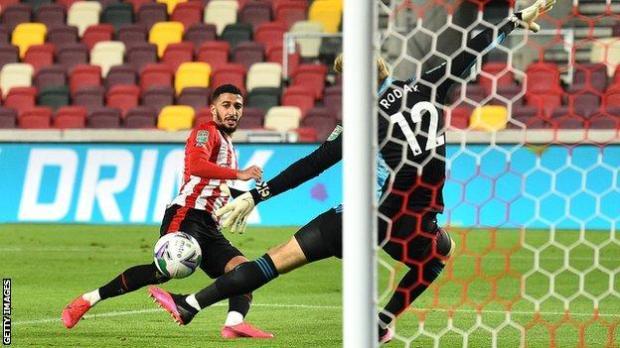Said Benrahma scores for Brentford against Fulham
