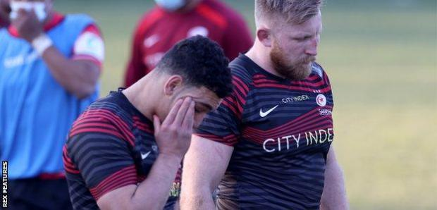 Saracens players Manu Vunipola and Jackson Wray reflect on defeat by Cornish Pirates