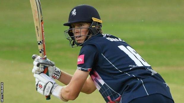 Zak Crawley batting for Kent
