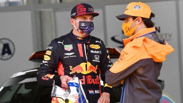 Max Verstappen and Carlos Sainz