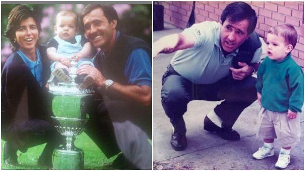 Seve Ballesteros with son Javier