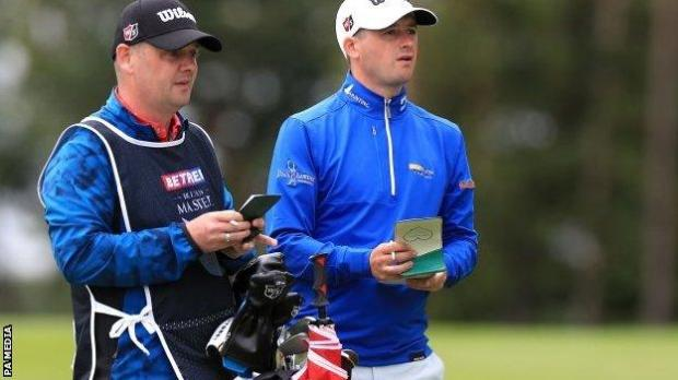 David Law and his caddie