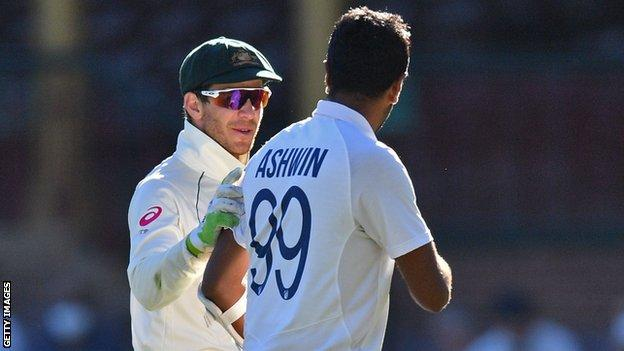 Tim Paine and Ravichandran Ashwin