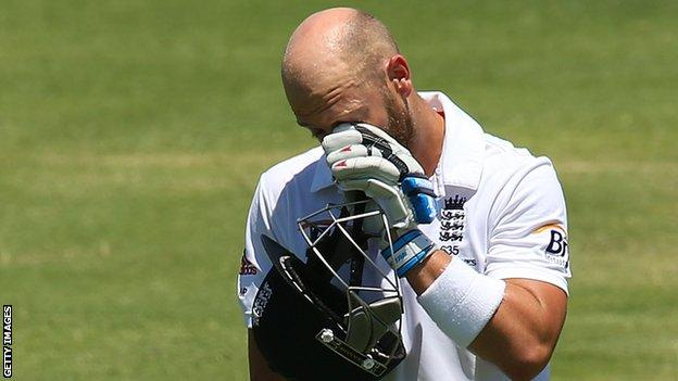 Matt Prior during 2013-14 Ashes tour
