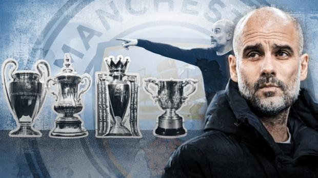 Pep Guardiola attempting Manchester City quadruple