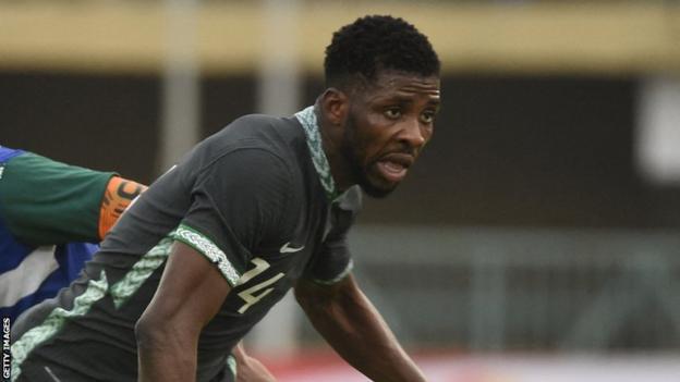 Kelechi Iheanacho in action for Nigeria