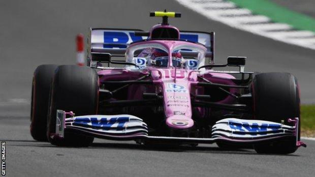 Lance Stroll in the Racing Point car
