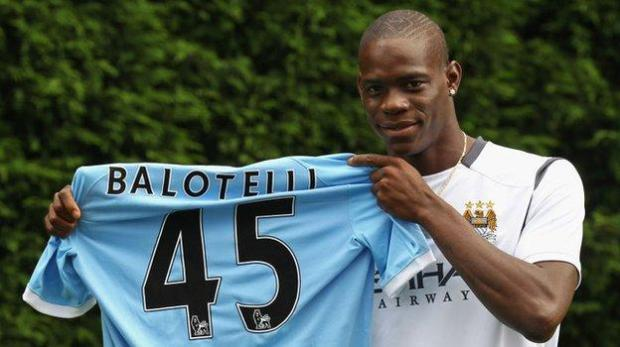Mario Balotelli joined Manchester City in 2010