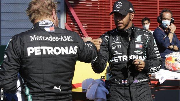 Valtteri Bottas and Lewis Hamilton