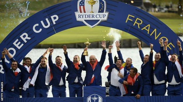 Europe celebrate winningRyder Cup
