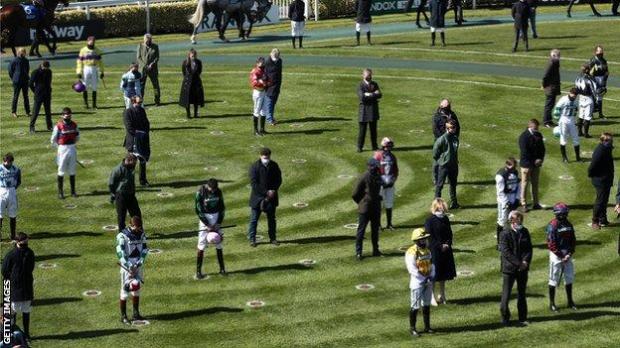 Jockeys at Aintree