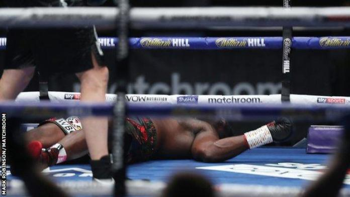 Whyte was dominant but could not find his feet after Povetkin's uppercut