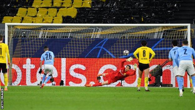 Riyad Mahrez scored from the penalty spot for Manchester City