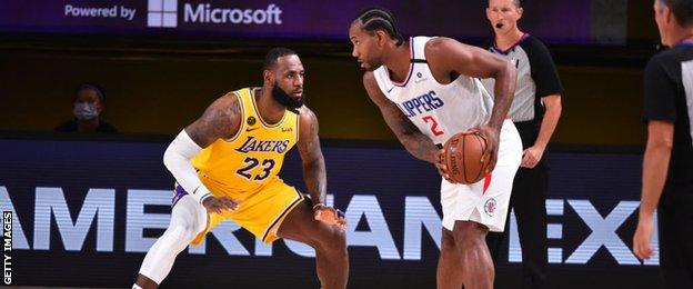 LeBron James and Kawhi Leonard