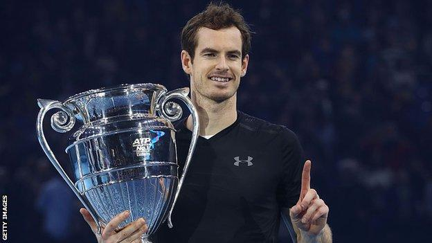 sport Andy Murray celebrates winning the ATP Finals in 2016 and becoming the year-end world number one