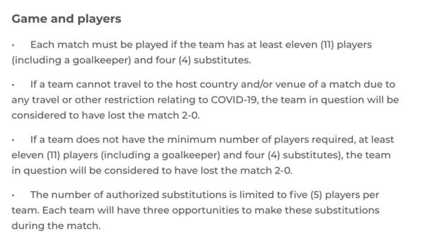 The Caf guidelines for the 2021 Africa Cup of Nations qualifiers during Covid-19