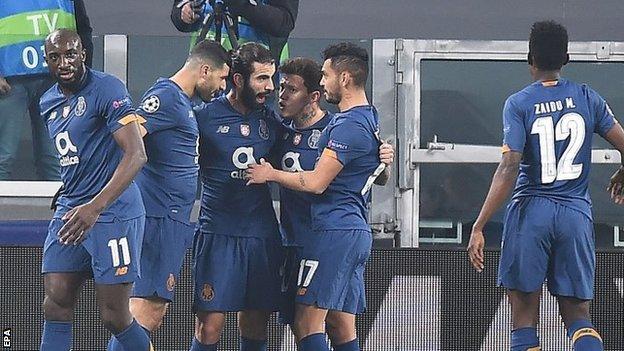 Porto players celebrate