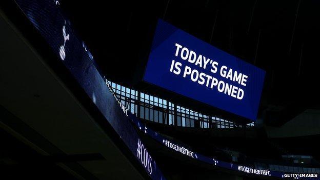 Tottenham v Fulham was postponed