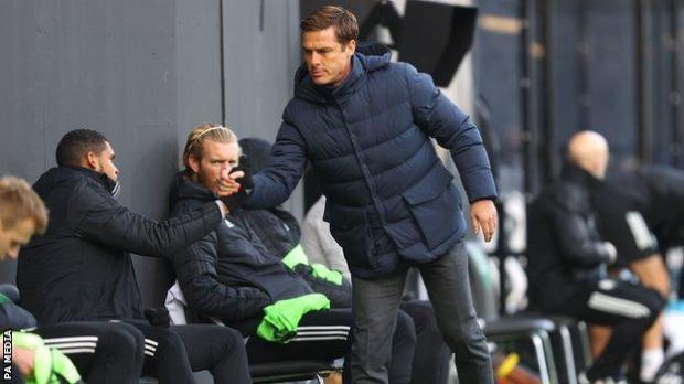 Fulham boss Scott Parker before his team's Premier League match with Everton