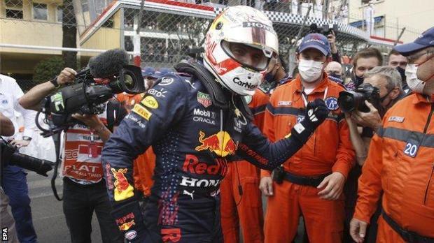 Max Verstappen celebrates