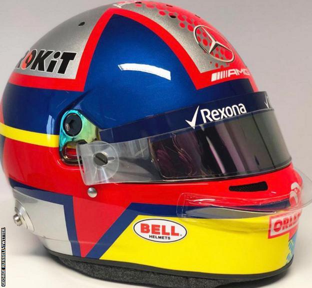 George Russell helmet