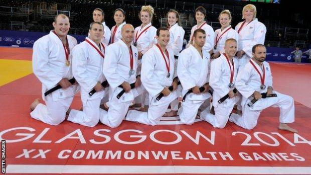 Team Scotland judo players
