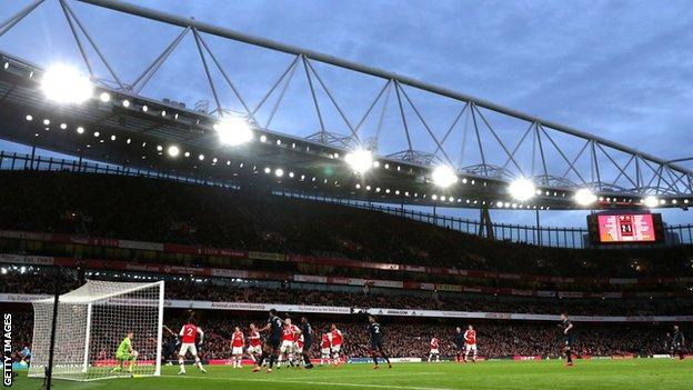 LED lighting at Arsenal's Emirates Stadium
