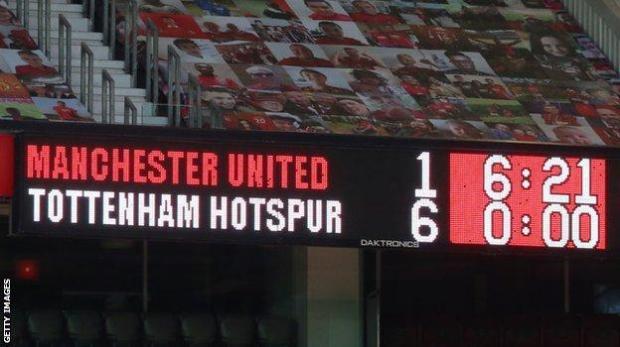 Man Utd lost 6-1 at home to Tottenham in October
