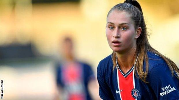 Paris St-Germain forward Jordyn Huitema