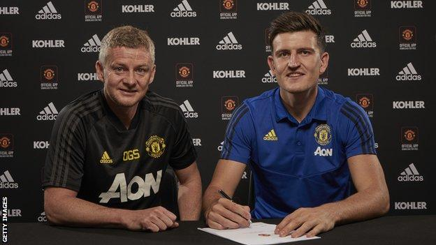 Harry Maguire: Man Utd sign Leicester defender for world record £80m - BBC  Sport