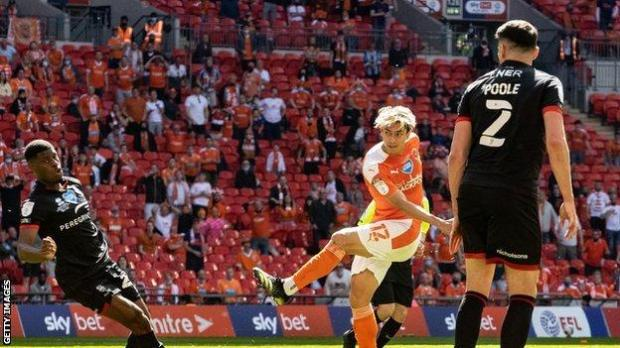 Kenny Dougall had been without a club and training on his own prior to joining Blackpool last summer