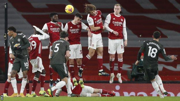 Arsenal 0-0 Manchester United: Alexandre Lacazette hits bar for Gunners -  BBC Sport