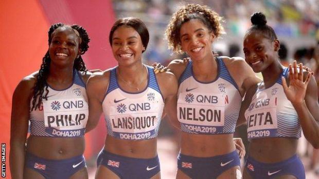 Asha Philip, Imani-Lara Lansiquot, Ashleigh Nelson and Daryll Neita