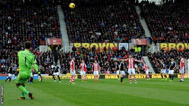 Stoke City goalkeeper Asmir Begovic enters record books - BBC Sport