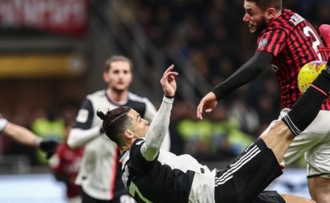 Ac Milan 1 1 Juventus Cristiano Ronaldo S Late Penalty