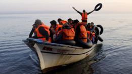 Migrantes sirios tratando de llegar a Europa