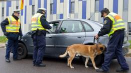 Policía fronteriza en Alemania