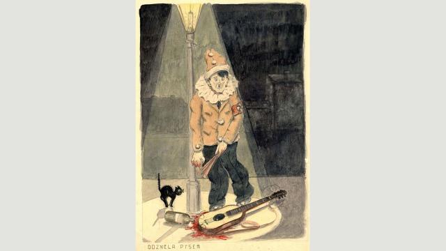 Pavel Fantl, The Song is Over (1941-1944) (Credit: Credit: Yad Vashem Art Museum, Jerusalem)