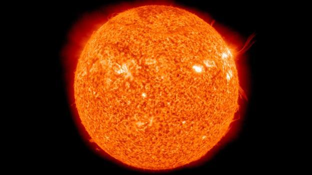 The Sun's huge mass affects Mercury's motion (Credit: NASA/SDO)