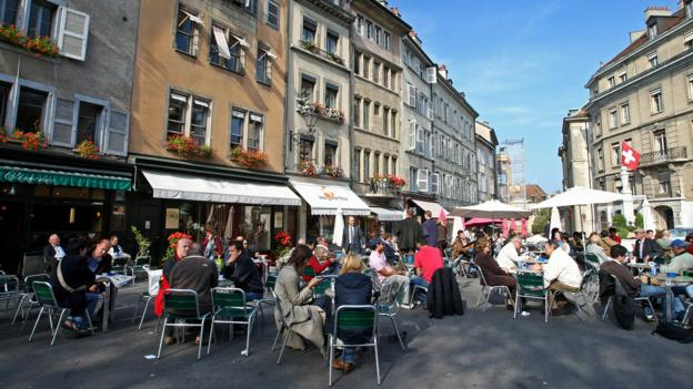 Cafe culture is a way of life in Geneva (Credit: Credit: Mike Hewitt/Getty Images)
