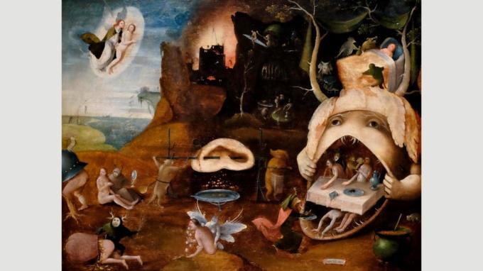 Las representaciones grotescas del cielo y el infierno fueron pintadas por Bosch y sus seguidores, uno de los cuales creó La visión de Tundale (c 1520-30) (Crédito: Alamy)