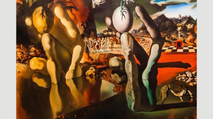 Las pinturas surrealistas de sueños, como Metamorfosis de Narciso (1937) de Salvador Dalí, representan el funcionamiento interno de un sueño (Crédito: Alamy)